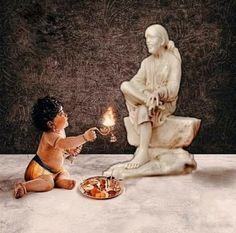 Sai Baba Pictures, Sai Baba Wallpapers, Human Babies, Om Sai Ram, Gods And Goddesses, Ganesha, Mythology, Garden Sculpture, Sculptures