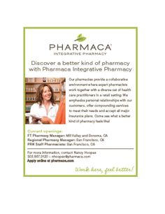Pharmaca - Discover a better kind of pharmacy  with Pharmaca Integrative Pharmacy.  ----- (As seen in the 2012 Pharmacy Platinum Pages Buyer's Guide: rxplatinumpages.com)