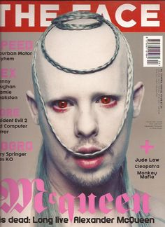 "cMag003 - The Face Magazine cover ""Alexander McQueen"" / Volume 3 Nº 15, April, 1998."