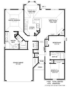House Plans, Home Plans and floor plans from Ultimate Plans if there was a way to make the mudroom a little bit bigger Id be happy Dream House Plans, Small House Plans, House Floor Plans, Building Plans, Building A House, Barndominium Floor Plans, Floor Plan Layout, Traditional House Plans, House Blueprints