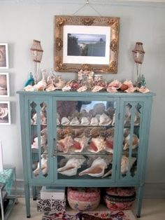 Now this is THE PERFECT way to show see shells!!!   Linda Rodin -A Seashell Lovers New York City Apartment