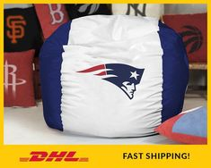 🔴 Please read full Item description bellow before purchase.⚠ We provide Empty BeanBag Covers. Inner filling/stuffing is NOT included.New England Patriots Bean Bag cover, Super Bowl gift, NFL Bean bag, in Children and Teen/Adult size.Patriots Gift for Boyfriend, Patriots Son gift, Patriots Kids gift, Patriots Gift for him, Patriots husband gift.Great gift for any NFL and American Football fans, especially fans of New England Patriots!Made using strong waterproof fabric, the logo is stitched… Gifts For Husband, Gifts For Him, Bean Bag Covers, Vinyl Fabric, Waterproof Fabric, Football Fans, Fabric Covered, New England Patriots, American Football