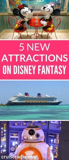 Disney Cruise Line's newest ship Disney Fantasy just emerged from dry dock with a variety of cool new features.