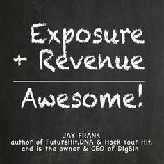 Advice from Jay Frank // For all of Jay's advice, visit: http://cyberprmusic.com/2013/12/30/12-days-of-monetization-12-ways-to-make-money-from-youtube-jay-frank-day-6/
