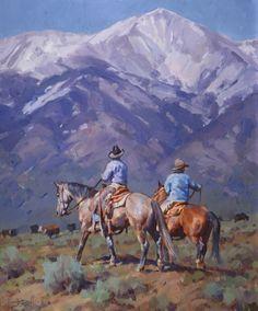 """Gathering Remnants"" by Jason Rich (Cowboy Artist) 24 x 20"