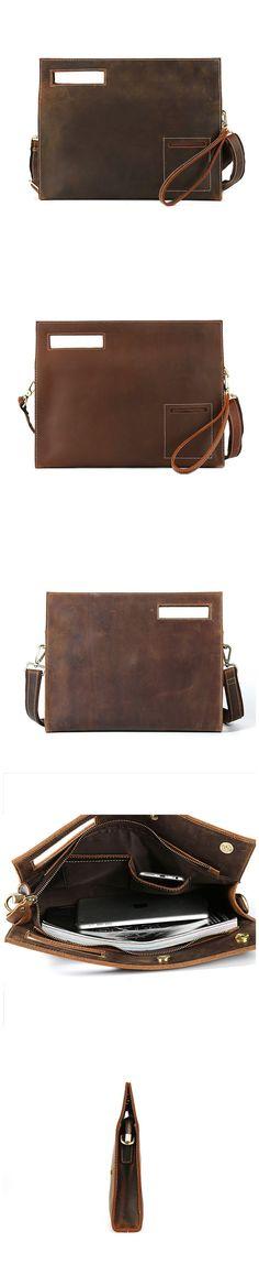 Bag Men's Shoulder Bag Leather Messenger Bag YH3048 Ipad Bag, Ipad Sleeve, Leather Clutch, Leather Shoulder Bag, Fashion Forward, Messenger Bag, Zip Around Wallet, Envelope, Mens Fashion