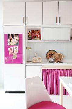 Una bonita casa en colores pastel, de inspiración asiática