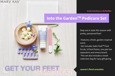 LIMITED EDITION!!!!!  The limited-edition† Into the Garden™️ Pedicure Set embraces the season's floral sensation with its petal-pretty design inspired by spring blooms. The pedicure set is part of the limited-edition† Into the Garden™️ Collection - designed through the exclusive collaboration between Mary Kay Inc., Brazilian fashion designer Patricia Bonaldi and Mary Kay Global Makeup Artist Sebastian Correa. Mary Kay Inc, Pedicure Set, Spring Blooms, Collaboration, Bee, Seasons, Inspired, Makeup, Pretty