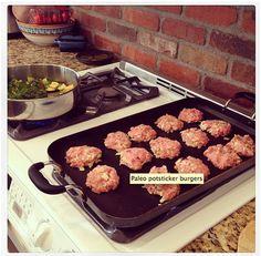 Recipe | Pot Sticker Burgers lizeatondesigns.com