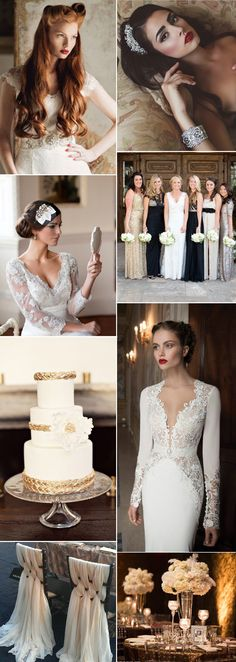 Modern brides will fall in love with Hollywood glamour which epitomizes the elegance of 1940s screen sirens
