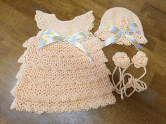 Crochet tiered baby dress crochet lace by LizEclecticCreations