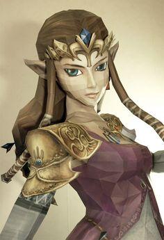 La princesse Zelda en papier !