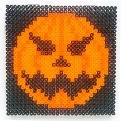Halloween pumpkin hama perler beads