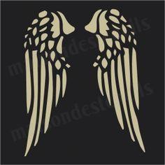 Angel Wings No.1   12x12 Stencil