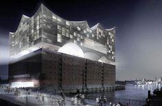 La nueva sala de conciertos de Hamburgo. Todavía en obras. Impresionante!!