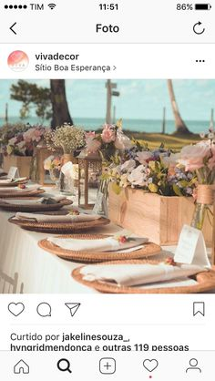 Decoração de mesa casamento na praia dos carneiros!!!! Mine wedding de Bel e Rafael!