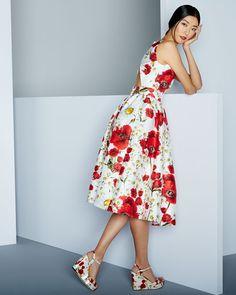 Dolce & Gabbana :: Poppy & Daisy Open-Back Party Dress