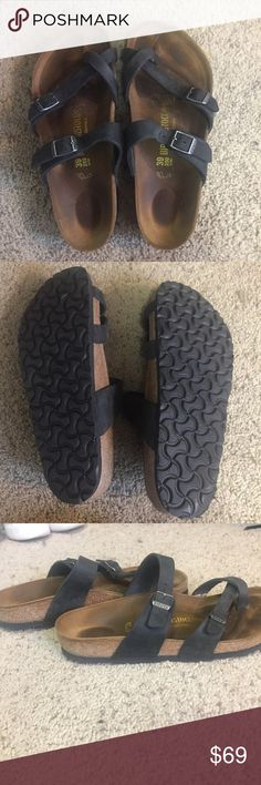 Black Birkenstock Sandals Black Birkenstock Sandals, only worn a few times and in great condition. Size 8-8 1/2 Birkenstock Shoes