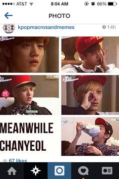 when EXO were watching a sad movie in EXO's Showtime, Chanyeol is me. I am Chanyeol. Exo Memes, Funny Kpop Memes, Wtf Funny, Hilarious, K Pop, Btob, Cnblue, Chanyeol Baekhyun, Park Chanyeol