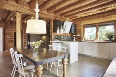 Dom z Finlandii River House, House 2, Sweet Home, Dining Table, Cottage, Rustic, Kitchen, Furniture, Home Decor