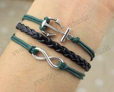 Infinity braceletanchor bracelet braceletnavy by themagicbracelet, $3.59