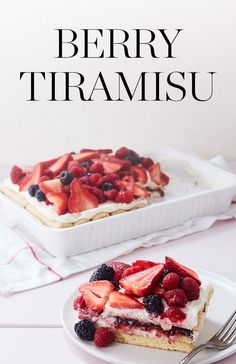 On a humid summer day, the last thing we want to do is futz over the oven. Presenting no-bake berry tiramisu. — via @PureWow
