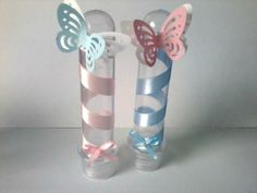 Tubete Jardim Encantado                                                                                                                                                     Mais Baby Shower Return Gifts, Baby Boy Shower, Butterfly Party, Butterfly Birthday, Garden Party Decorations, Birthday Decorations, 1st Birthday Party For Girls, First Communion Party, Tinkerbell Party