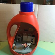 Miniature Laundry Room in TIDE Bottle - 1/2 scale dollhouse 1:24