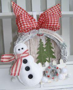 Snowman Wreath  annettes paper bistro