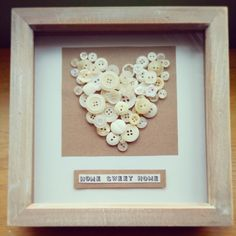 """Home Sweet Home"". Frame 8""x8"" £15. Can be personalised for your colour scheme and sentiment."