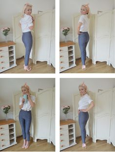 "She looks fantastic in those pants!!! ""Clover by Colette Patterns in denim!"""