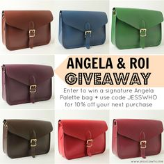 Enter to win an Angela & Roi Palette Bag giveaway    Ends on 11/23  #giveaway @jayemmtee