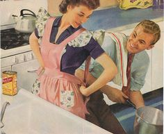 Wonderful illustration for 'Secret Recipies for the Modern Wife,' ca. 1950s.