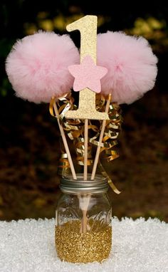 Twinkle Twinkle Little Star Party Pink and Gold Centerpiece Table Decoration - How-Do-It.Com - Google+