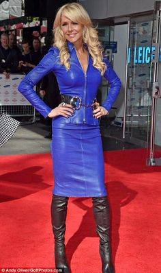 Interior Designer Dominatrix Celia Sawyer in a blue Leather Combo Sexy Rock, Look Fashion, Womens Fashion, Fashion Goth, Steampunk Fashion, Leder Outfits, Hot High Heels, Leather Dresses, Leather Skirts