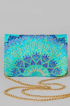 Azizah Embroidered Mini Clutch