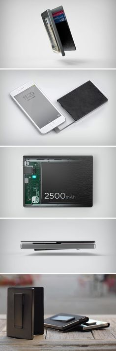 Yes, this wallet holds your money, but that's so passé. The Zillion wallet can do much MUCH more. With a thinness that rivals your smartphone, the Zillion wallet holds your cash/cards, comes with a 2500 mAh battery AND a Tile sensor that allows it to be tracked by its owner from anywhere. Buy Now.