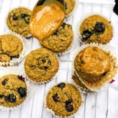 These gluten free blueberry banana muffins so moist and delicious. With only a few real food, nutritious ingredients, they are a guilt free snack, breakfast, or pre-workout fuel. Banana Blueberry Muffins, Gluten Free Blueberry, Dairy Free Recipes, Real Food Recipes, Healthy Recipes, Yummy Treats, Sweet Treats, Matcha Benefits, Health Benefits