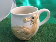 Vintage Puff the magic dragon coffee cup Quon-Quon by kookykitsch