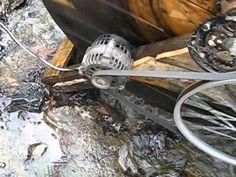 water wheel generator - YouTube