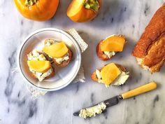 What scrumptious appetizer can you make for the Thanksgiving holiday that is just three ingredients and totally delicious? THIS. Blue Cheese and Persimmon Crostini.