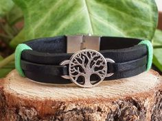 Men's Bracelet Leather, Leather Bracelets, Leather Tree of Life Bracelet, Mens, Womens Tree of Life Jewelry, Anniversary Gift, Birthday Gift by tovvanda on Etsy https://www.etsy.com/listing/266618437/mens-bracelet-leather-leather-bracelets