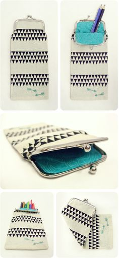 voyages of the creative variety.: PENCIL-PURSE @Bethany Salvon (BeersandBeans) - I need you to make these for me with your awesome sewing skills... please! :)