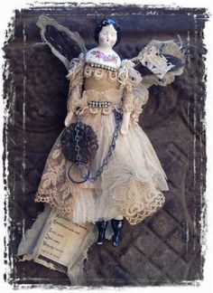 olde soul....joanna pierotti  would be cute to have a tiny doll and make a pin to wear.