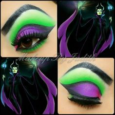 Maleficent make up - MakeUp For Women İdeas Maleficent Makeup, Maleficent Party, Maleficent Halloween, Maleficent Costume, Halloween Eye Makeup, Halloween Eyes, Disney Inspired Makeup, Disney Makeup, Cosplay Makeup