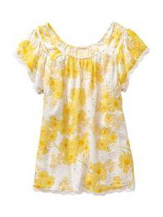 yellow cotton shirt