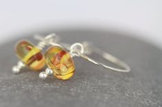 Amber earrings  boho hoops  nature inspired by AmySquaredJewellery
