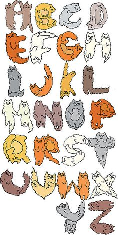 Cat Alphabet By: Allison Berg (check her out, her stuff is awesome!)