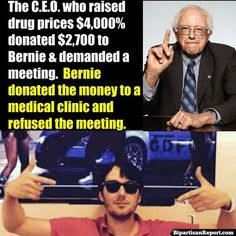 "Bernie Sanders just put the greediest CEO in America in his place...hope this greedy prick feels the ""Bern"""