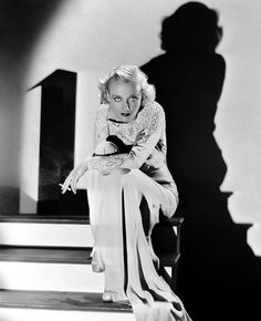 Carole Lombard with shadow, via Flickr.